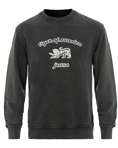 Tiger of Sweden Jeans Tana Crew Neck Sweatshirt Black i gruppen Klær / Gensere / Sweatshirts hos Care of Carl (15707411r)