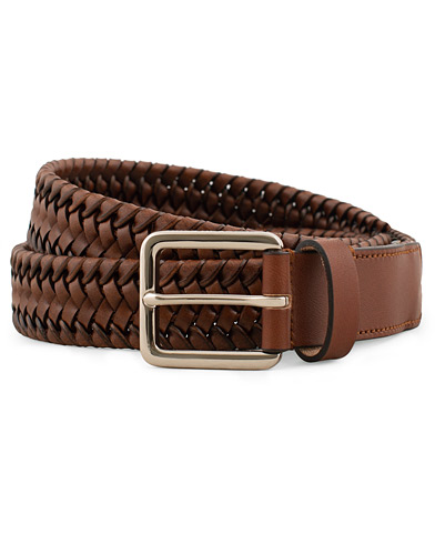 Tiger of Sweden Braidant Braided Stretch Leather Belt  Brown i gruppen Assesoarer / Belter / Flettede belter hos Care of Carl (15709711r)
