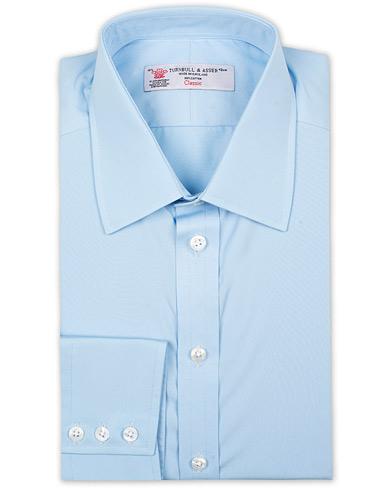 Turnbull & Asser Regular Fit T&A Collar Poplin Shirt Light Blue