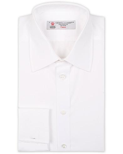 Turnbull & Asser Regular Fit Double Cuff Poplin Shirt White