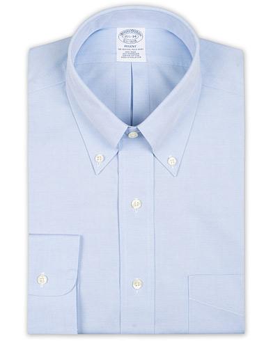 Brooks Brothers Regent Fit Non Iron Pocket Shirt Light Blue