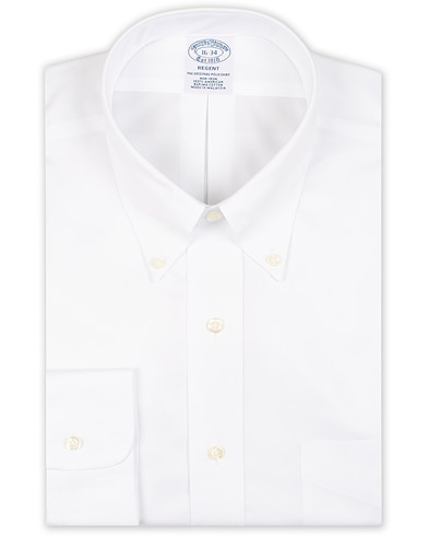 Brooks Brothers Regent Fit Non Iron Pocket Shirt Solid White