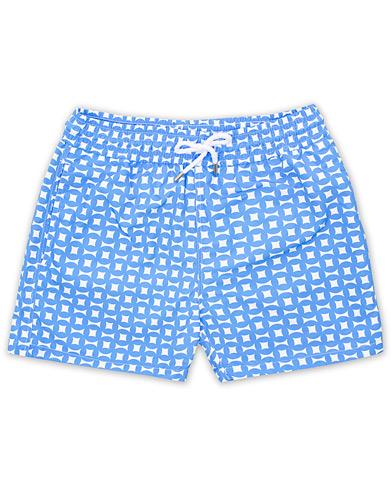 Frescobol Carioca Short Sport Swimshorts Urca Large Print Blue