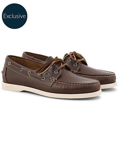 GANT Exclusively Made For Care of Carl Boatshoe Cognac