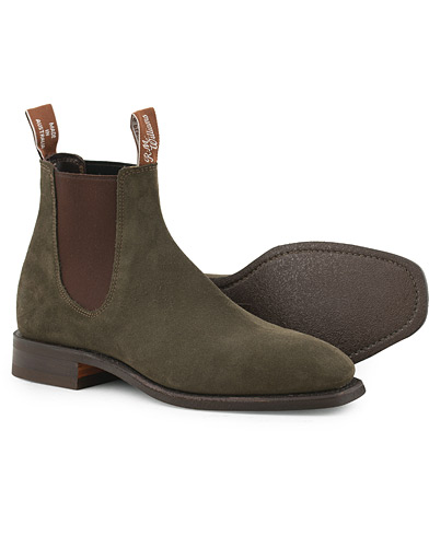 R.M.Williams Blaxland G Boot Khaki Suede i gruppen Sko / Støvler hos Care of Carl (15747111r)