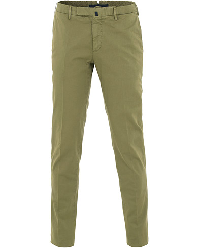Incotex Slim Fit Twill Chinos Military Green i gruppen Klær / Bukser / Chinos hos Care of Carl (15761411r)