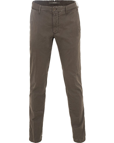 Incotex Slim Fit Stretch Slacks Dark Brown