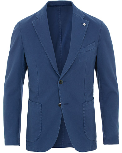 L.B.M. 1911 Jack Slim Fit Cotton Stretch Structured Blazer Dark Blue i gruppen Klær / Dressjakker / Enkeltspente dressjakker hos Care of Carl (15767811r)