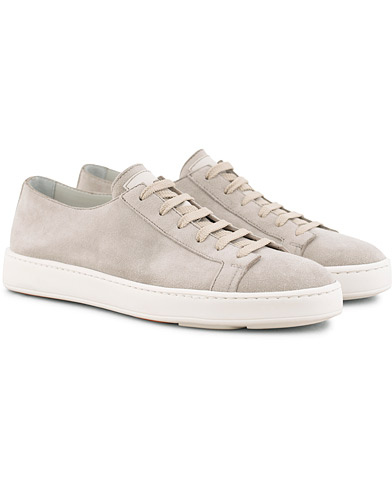 Santoni Cleanic Sneaker Light Grey Suede i gruppen Sko / Sneakers / Sneakers med lavt skaft hos Care of Carl (15785011r)