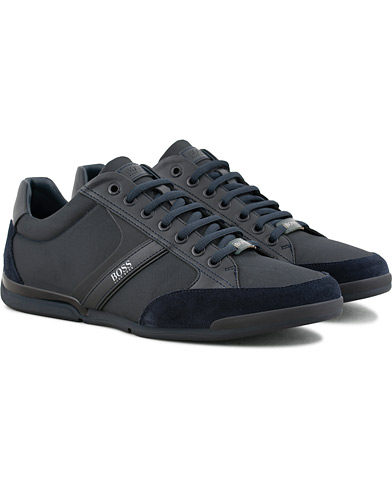 BOSS Athleisure Saturn Low Sneaker Navy i gruppen Sko / Sneakers / Sneakers med lavt skaft hos Care of Carl (15801111r)