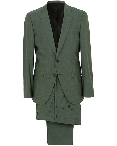 BOSS Huge/Genius Stretch Wool Suit Green i gruppen Klær / Dresser / Todelte dresser hos Care of Carl (15804211r)