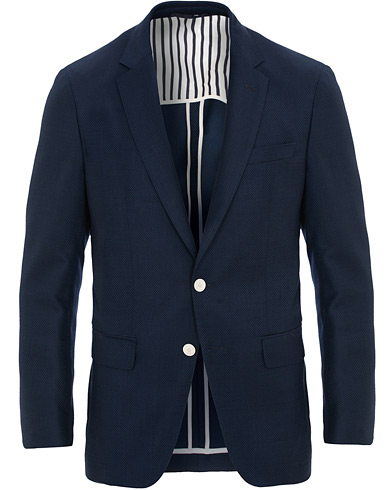 BOSS Hartlay Wool Blazer Blue i gruppen Klær / Dressjakker / Enkeltspente dressjakker hos Care of Carl (15804611r)
