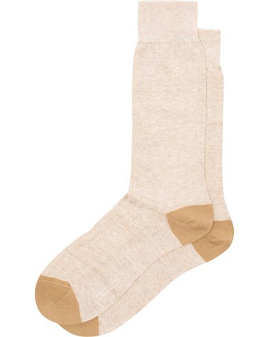 Pantherella Hamada Linen/Cotton/Nylon Sock Beige i gruppen Klær / Undertøy / Sokker hos Care of Carl (15808211r)