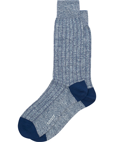 Pantherella Hamada Linen/Cotton/Nylon Sock Indigo