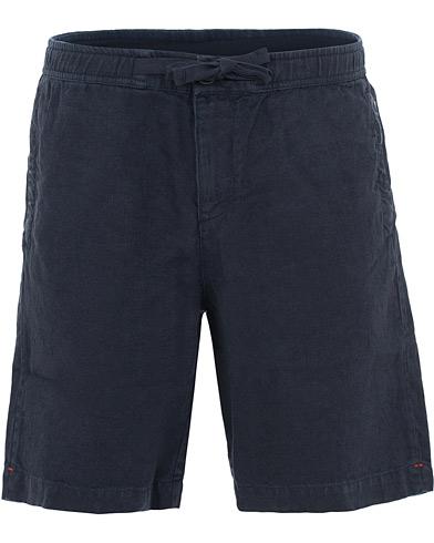 Orlebar Brown Harton Linen Shorts Navy