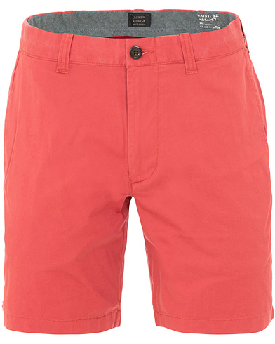 J.Crew 7'' Stretch Cotton Shorts Old Red i gruppen Klær / Shorts / Chinosshorts hos Care of Carl (15859211r)