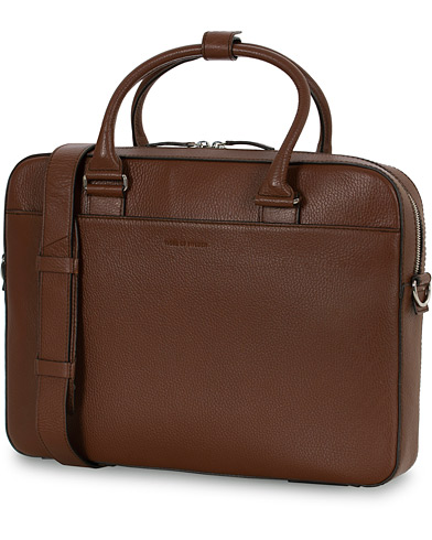 Tiger of Sweden Bosun Grained Leather Briefcase Brown  i gruppen Assesoarer / Vesker hos Care of Carl (16015210)