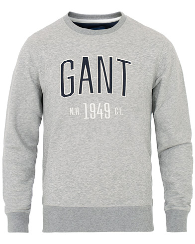 GANT Graphic Crew Neck Sweat Grey Melange i gruppen Klær / Gensere / Sweatshirts hos Care of Carl (16016711r)