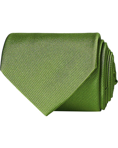 Amanda Christensen Plain Classic Tie 8 cm Green  i gruppen Assesoarer / Slips hos Care of Carl (16021610)