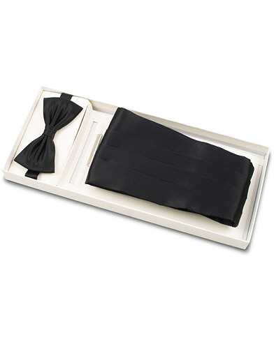 Amanda Christensen Silk Cummerbund Set Black  Black  i gruppen Assesoarer / Sløyfer hos Care of Carl (16024210)