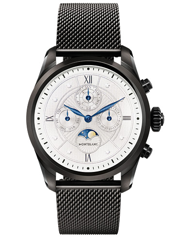 Montblanc Summit2 42mm Smartwatch Milanese Edition Black DLC Steel  i gruppen Assesoarer / Klokker hos Care of Carl (16039710)
