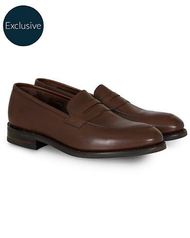 Loake 1880 MTO Whitehall Penny Loafer Dark Brown Calf