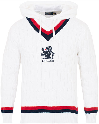 Polo Ralph Lauren Cotton Cricket Hybride Hoodie White i gruppen Klær / Gensere / Hettegensere hos Care of Carl (16066511r)