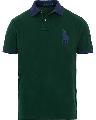 Polo Ralph Lauren Big Pony Signature Polo College Green i gruppen Klær / Pikéer / Kortermet piké hos Care of Carl (16068411r)
