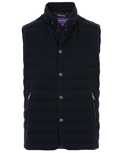 Ralph Lauren Purple Label Whitwell Classic Wool Vest Classic Chairman Navy i gruppen Klær / Vester hos Care of Carl (16070911r)