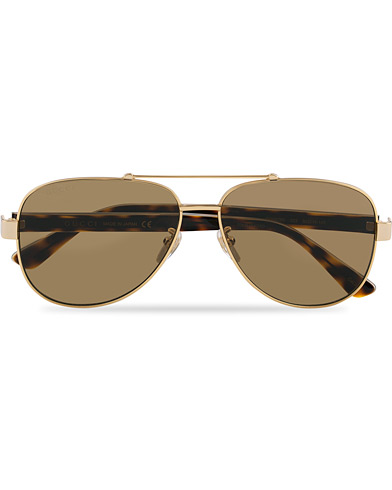 Gucci GG0528S Sunglasses Crystal/Brown