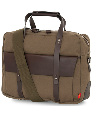 Chapman Bags Wye Work Canvas Briefcase Olive  i gruppen Assesoarer / Vesker hos Care of Carl (16076510)