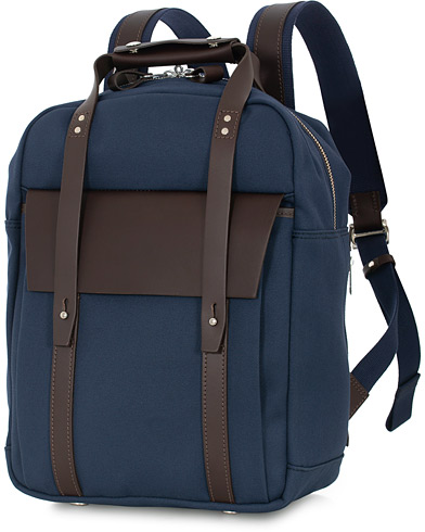 Chapman Bags Ribble Canvas Rucksack Navy  i gruppen Assesoarer / Vesker hos Care of Carl (16077110)