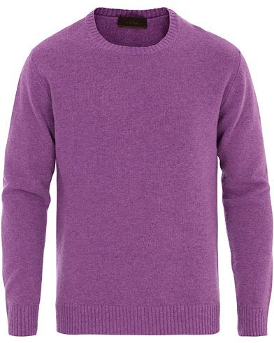 Altea Virgin Wool Crew Neck Sweater Purple
