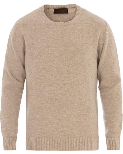 Altea Virgin Wool Crew Neck Sweater Sand
