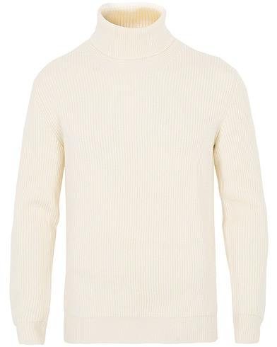 Altea Rib Stitch Wool Turtleneck Sweater Off White