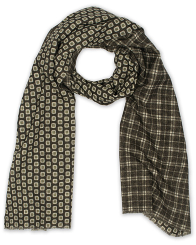 Altea Double Side Printed Wool Scarf Green  i gruppen Assesoarer / Scarves hos Care of Carl (16081710)