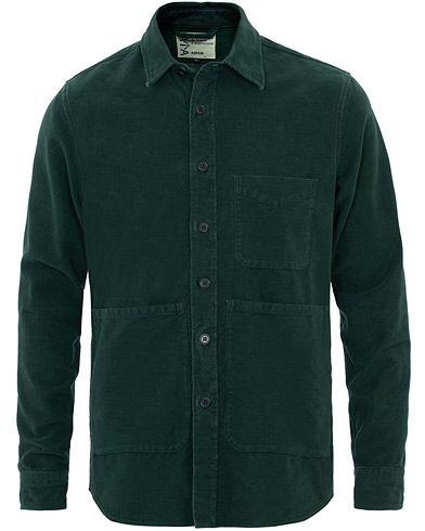 Aspesi Garment Dyed Cotton Shirt Jacket Dark Green i gruppen Klær / Skjorter / Casual hos Care of Carl (16083211r)