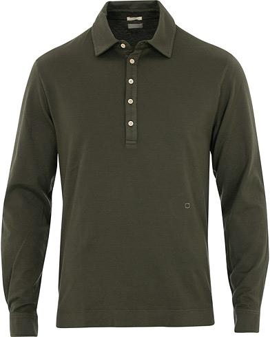 Massimo Alba Ischia Cotton/Cashmere Long Sleeve Polo Hunter
