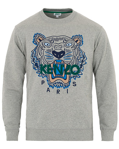 KENZO Icon Tiger Sweartshirt Grey i gruppen Klær / Gensere / Sweatshirts hos Care of Carl (16092211r)