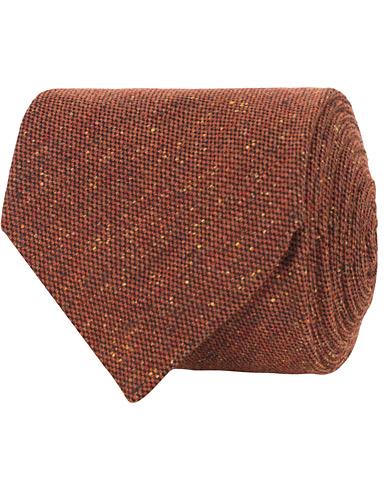 Amanda Christensen Silk/Wool Donegal Tie 8 cm Rust