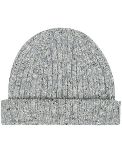 Drake's Merino Wool Donegal Hat Light Grey