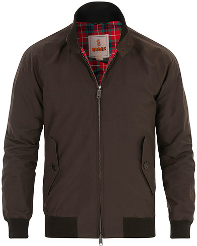 Baracuta G9 Original Harrington Jacket Chocolate i gruppen Klær / Jakker / Tynne jakker hos Care of Carl (16116011r)