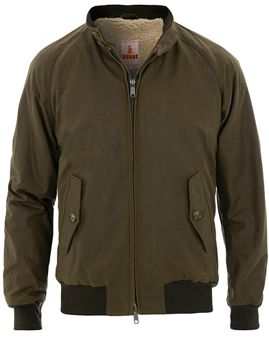 Baracuta G9 British Millerain Harrington Jacket Green i gruppen Klær / Jakker / Voksede jakker hos Care of Carl (16116211r)