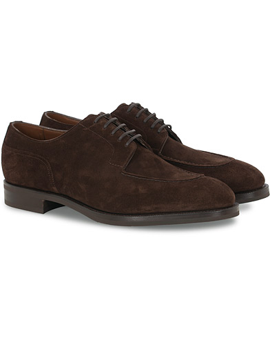 Edward Green Dover Split Toe R2 Sole Derby Mink Suede i gruppen Sko / Derbys hos Care of Carl (16200011r)