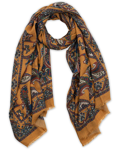 Eton Wool/Yak Paisley Printed Scarf Yellow  i gruppen Assesoarer / Scarves hos Care of Carl (16204210)