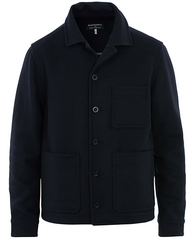 Gloverall Moss Melton Wool Jacket Navy i gruppen Klær / Jakker / Tynne jakker hos Care of Carl (16209211r)