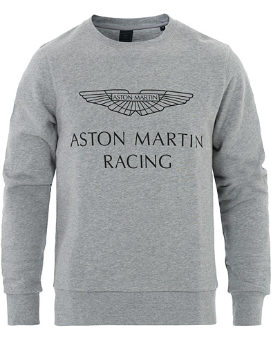 Hackett Aston Martin Print Crew Neck Grey Marl i gruppen Klær / Gensere / Sweatshirts hos Care of Carl (16209811r)