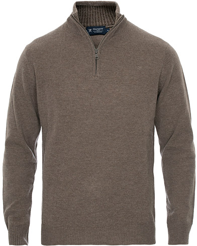Hackett Lambswool Half Zip Bone i gruppen Klær / Gensere / Zip-gensere hos Care of Carl (16211311r)