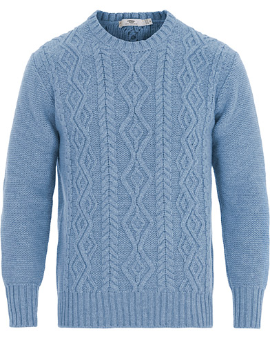Inis Meáin Aran Beack Sweater Sky Blue