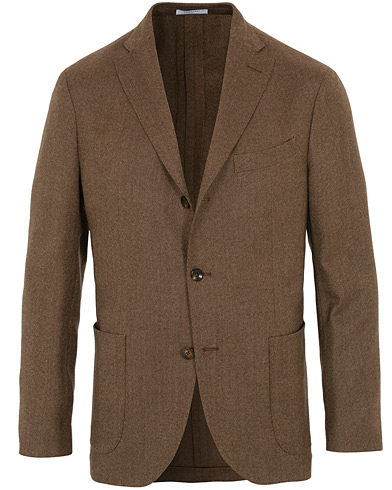 Boglioli K Jacket Wool Hopsack Blazer Brown